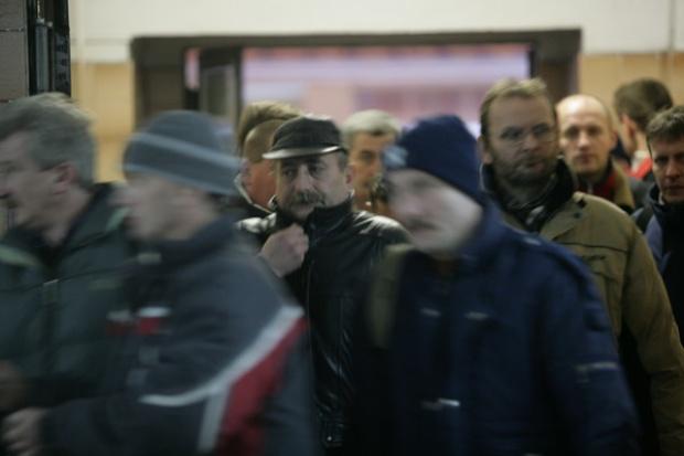 Protest pracowników zwalnianych z JZR