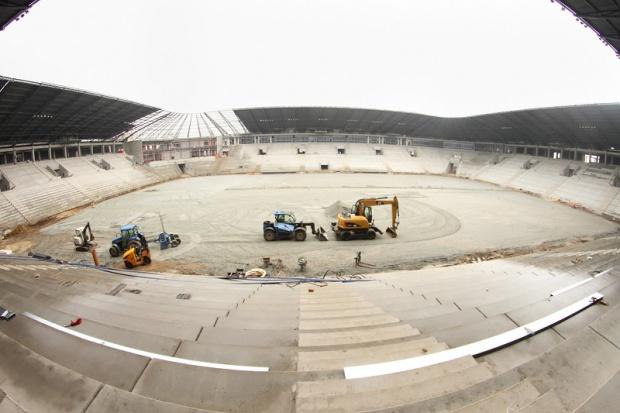 Mostostal W-wa powoli finiszuje z budową stadionu w Tychach