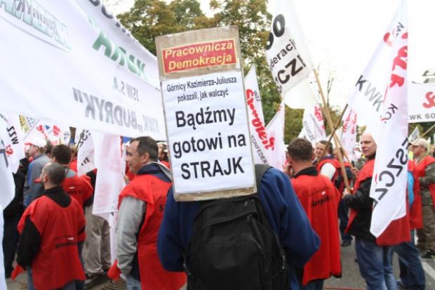 Związki z JSW: popieramy akcję protestacyjną w JZR
