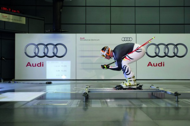 Audi ląduje telemarkiem