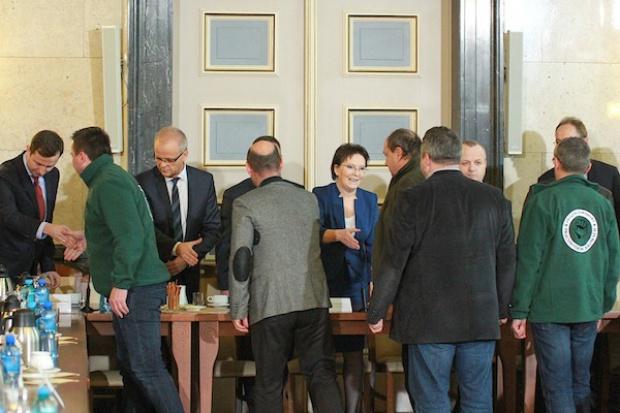 """Spotkanie premier Ewy Kopacz z górnikami. """"Atmosfera lepsza niż w weekend"""""""