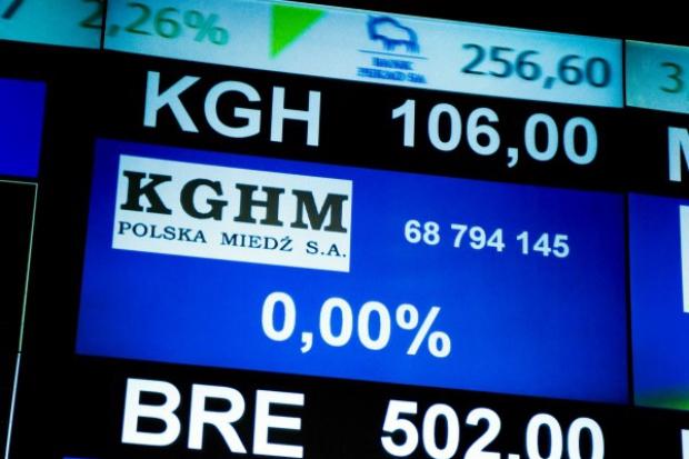 Potężny spadek wartości akcji KGHM