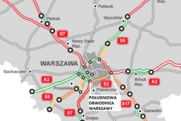 Trzy oferty na odcinek Południowej Obwodnicy Warszawy