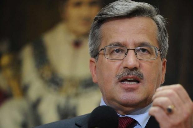 Komorowski o zaostrzeniu sankcji wobec Rosji