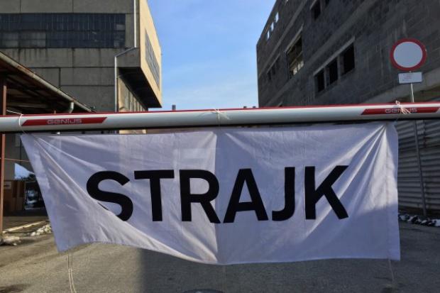 Demonstracja w trakcie rozmów ws. strajku w JSW