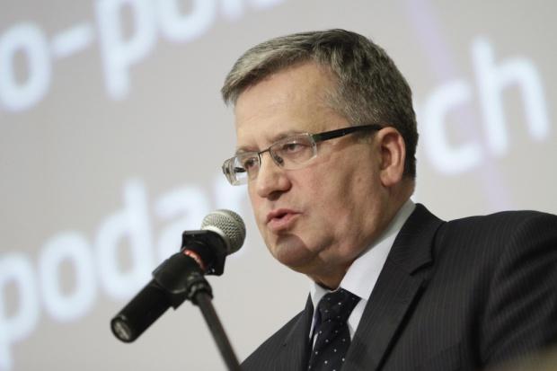 Komorowski: Polska niegotowa do wejścia do strefy euro
