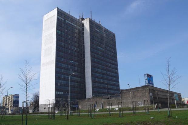 Wieżowiec koło Spodka powoli znika z panoramy Katowic