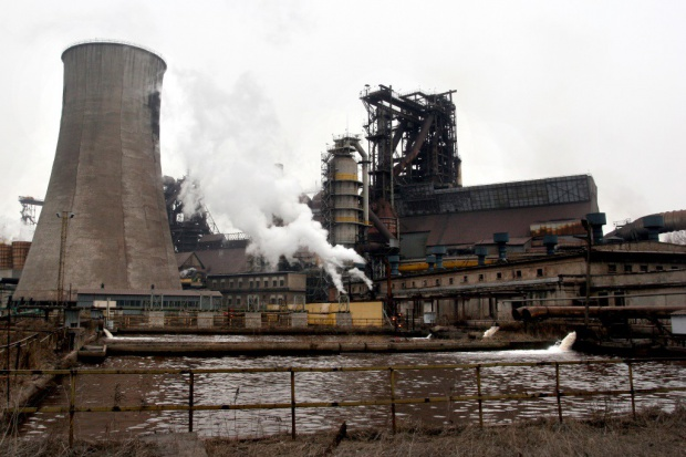 Protest hutników z ArcelorMittal Poland w obronie miejsc pracy