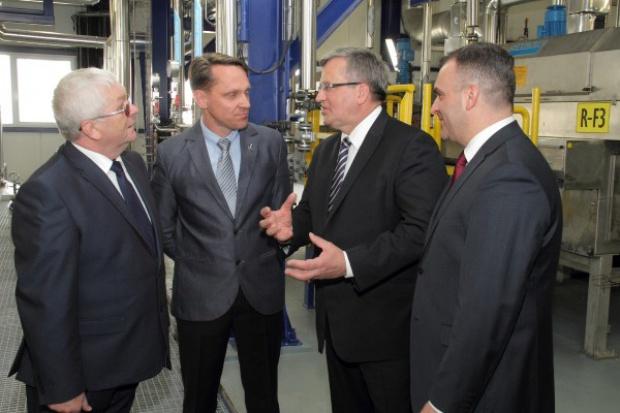 Prezydent Bronisław Komorowski odwiedził Grupę Azoty Puławy