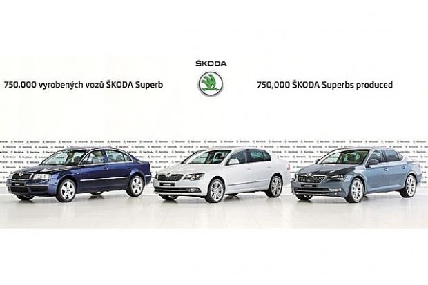 Skoda wyprodukowała 750 tys.egz. modelu Superb