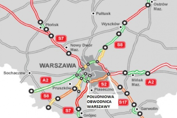 Będzie walka w KIO o budowę Południowej Obwodnicy Warszawy