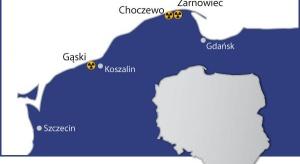 Preferowana lokalizacja el. jądrowej pod koniec 2017 r.