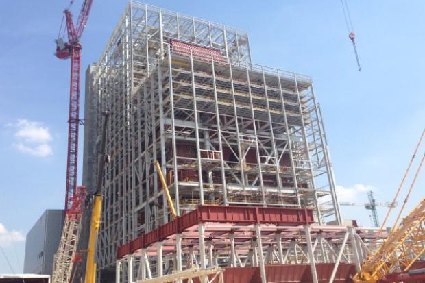Konstrukcja stalowa kotłowni bloku w Kozienicach gotowa