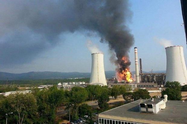 Pożar w czeskim Unipetrolu