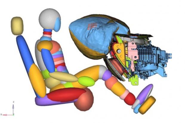Airbag w drzwiczkach schowka - pomysł Forda