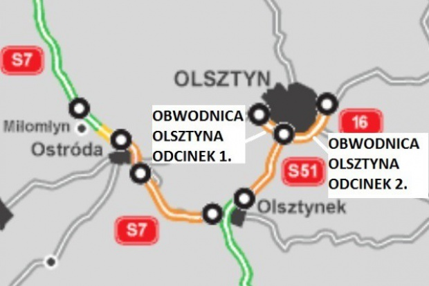 Kontrakt na pierwszy odcinek obwodnicy Olsztyna podpisany