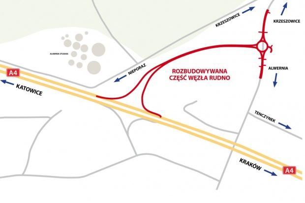 Rozpoczyna się rozbudowa węzła na A4 Katowice - Kraków