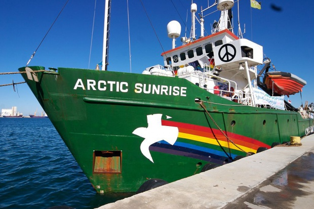 """Rosja musi zapłacić Holandii za areszt statku """"Arctic Sunrise"""""""
