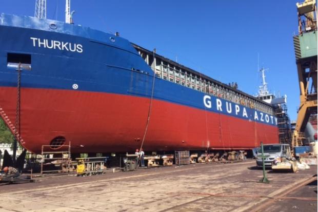 Statki Unibalticu w barwach Grupy Azoty