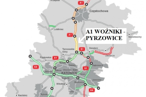 Jest pierwszy kontrakt na A1 Pyrzowice - Częstochowa
