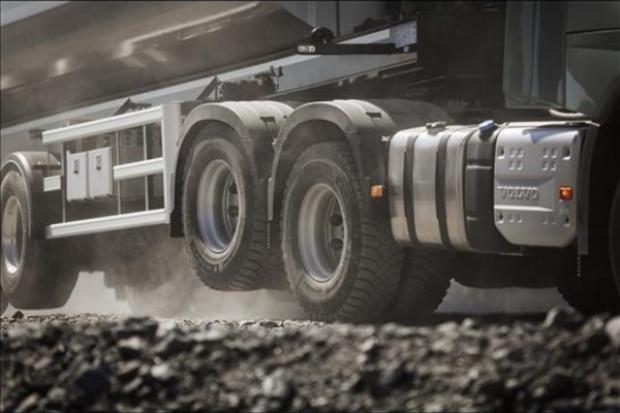 Podnoszona oś w ciężarowych Volvo