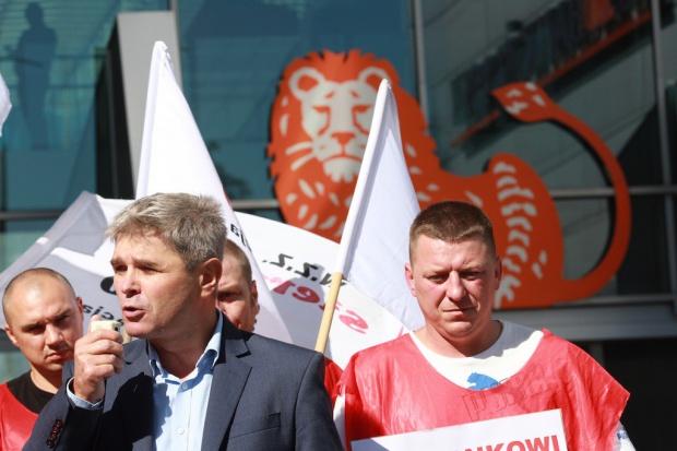Sierpień 80 demonstrował pod siedzibą ING Banku Śląskiego
