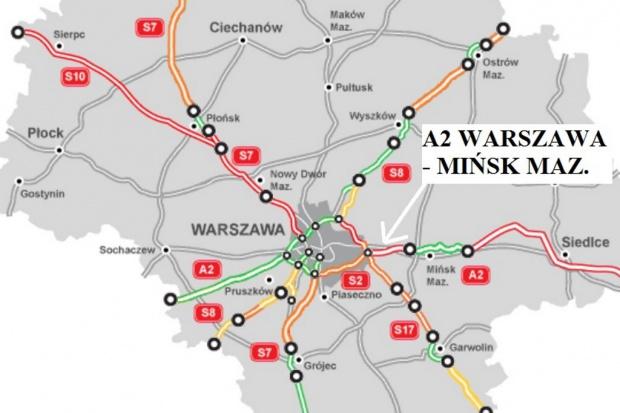 GDDKiA ogłosiła przetarg na A2 Warszawa - Mińsk Mazowiecki