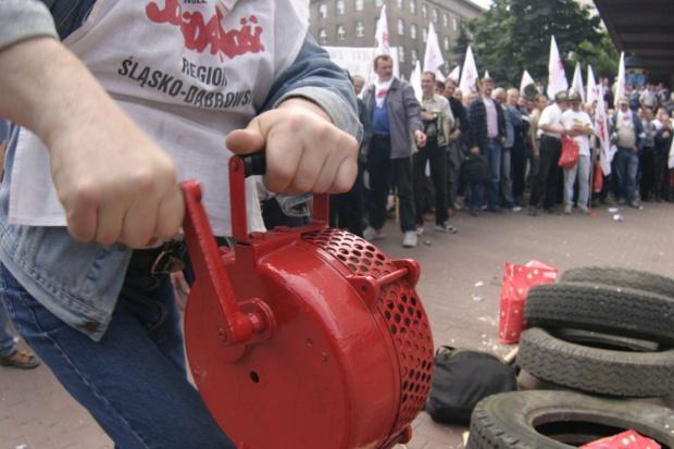 Demonstracja pod kopalnią Pokój, czyli druga fala górniczego gniewu