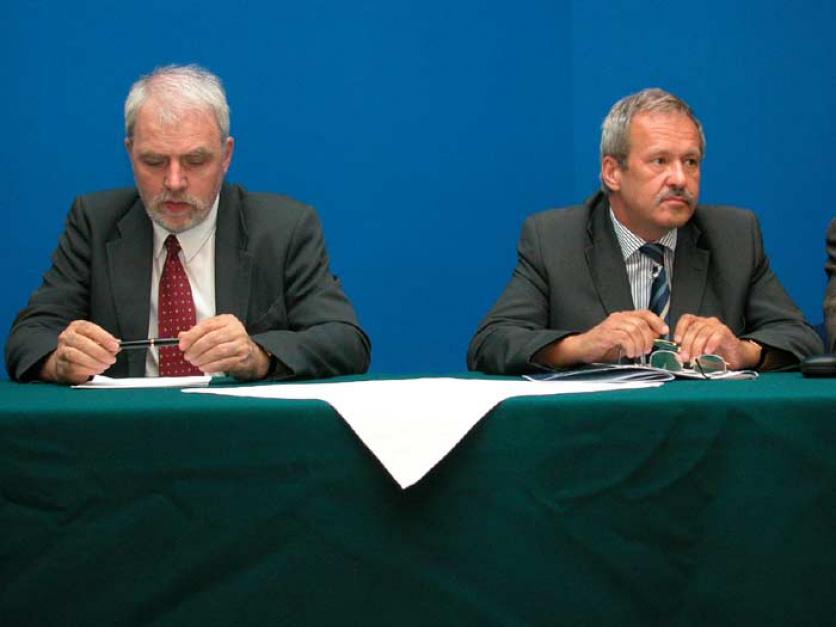 Od lewej: Jan Olbrycht - Radny, Sejmik Województwa Śląskiego; Janusz Steinhoff - były Wicepremier Minister Gospodarki