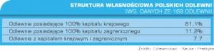 Tabela 2. Struktura własnościowa polskich odlewni