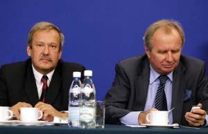 Janusz Steinhoff, były minister gospodarki i Jerzy Markowski, senator