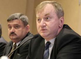 Od lewej: Krzysztof Żyndul, prezes Nafty Polskiej; Dariusz Marzec, wiceminister skarbu
