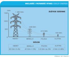 Wykres 2. Wielkość i płynność rynku (giełdy energii)
