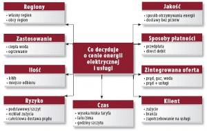 Tabela 3. Czynniki kształtowania ceny energii elektrycznej i usługi