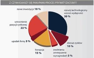 Z czym kojarzy się Panu/Pani proces prywatyzacyjny