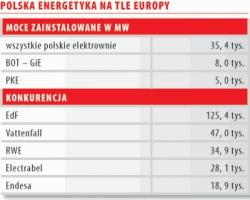 Polska energetyka na tle europy