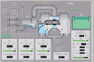 Elektro-hydrauliczny regulator turbiny (DEH) współpracuje z nadrzędnym regulatorem bloku (LDC) zapewniając regulację częstotliwości, automatyczne uruchamianie i odstawianie turbozespołu.