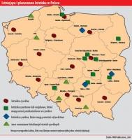 Istniejące i planowane lotniska w Polsce