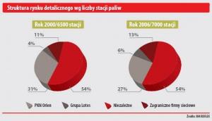 Struktura rynku detalicznego wg liczby stacji paliw
