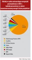 Udziały w rynku outsourcingu energetyki przemysłowej w 2005 r.