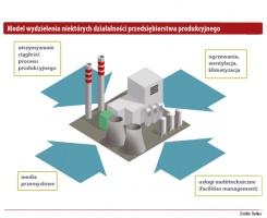Model wydzielenia niektórych działalności przedsiębiorstwa produkcyjnego.