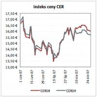 Indeks ceny CER Źrodlo: Reuters   ostatnia aktualizacja: 28.08.2007
