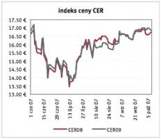 Indeks ceny CER Źrodlo: Reuters ostatnia aktualizacja: 09.10.2007