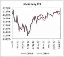 Indeks ceny CER Zrodlo: Reuters ostatnia aktualizacja: 16.10.2007