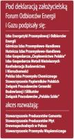Sygnatariusze deklaracji założycielskiej Forum Odbiorców Energii i Gazu