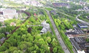 Wizualizacja przebiegu Drogowej Trasy Średnicowej w centrum Gliwic / źródło: UM Gliwice