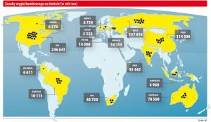 Zasoby węgla kamiennego na świecie (w mln ton)