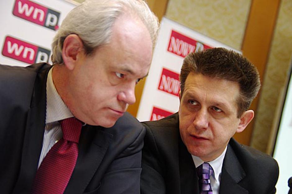 Adam Szejnfeld - Sekretarz Stanu w Ministerstwie Gospodarki oraz Jan Bury, wiceminister Skarbu Państwa.