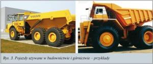 Rys. 3. Pojazdy używane w budownictwie i górnictwie - przykłady