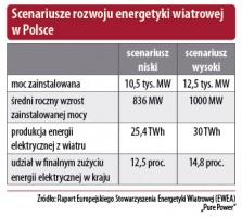 Scenariusze rozwoju energetyki wiatrowej w Polsce